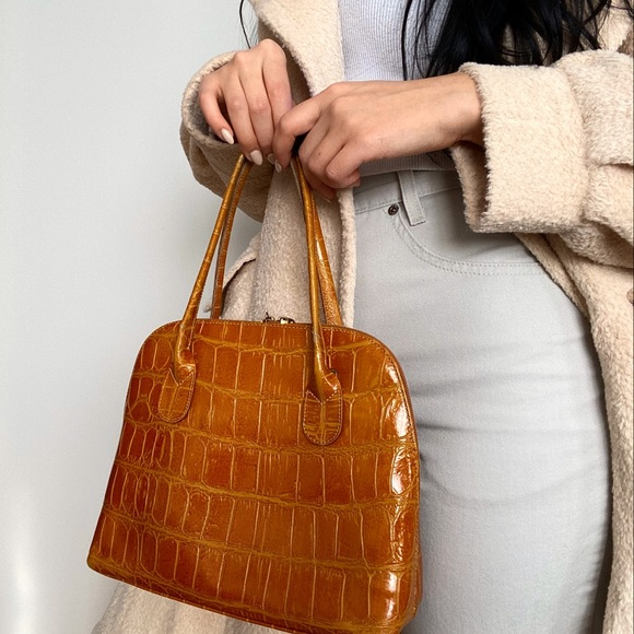 Handbags - Vintage Croc Hand Bag
